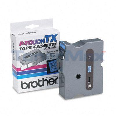 BROTHER TX TAPE CTG FOR PT-8000 BLACK/BLUE 24 MM X 15 M
